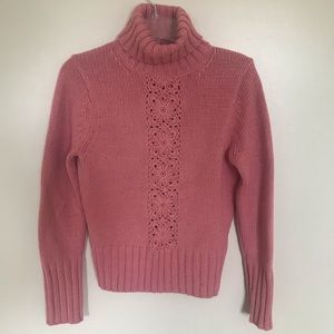 The Limited Turtleneck Knit Sweater, Pink, Med